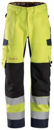 6563 ProtecWork, Pantalon imperméable en Shell, haute visibilité, Classe 2